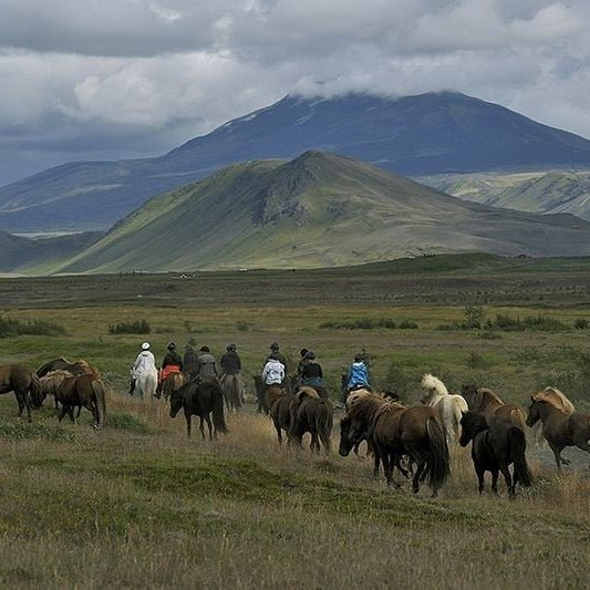 Horse riding tour near Hekla
