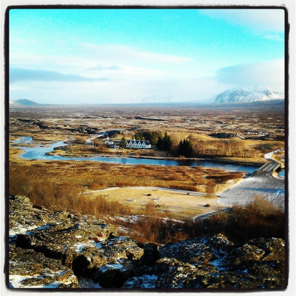 Þingvellir from Hakið winter