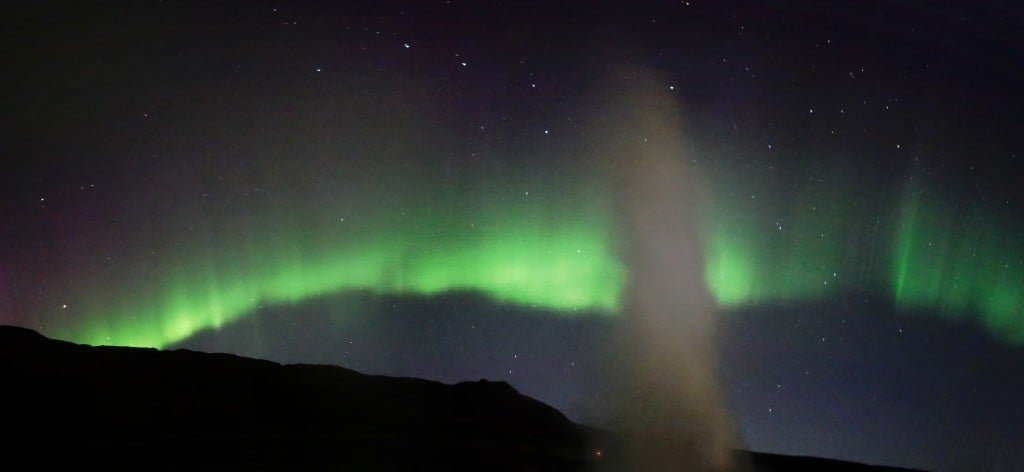 Northern Lights at Geysir