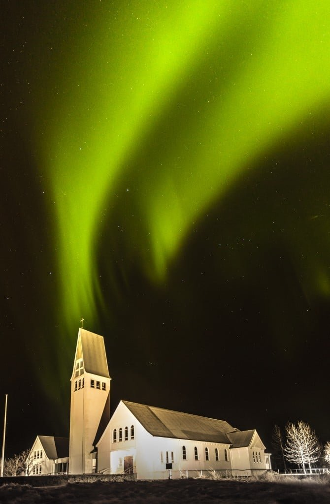 Northern Lights in Selfoss