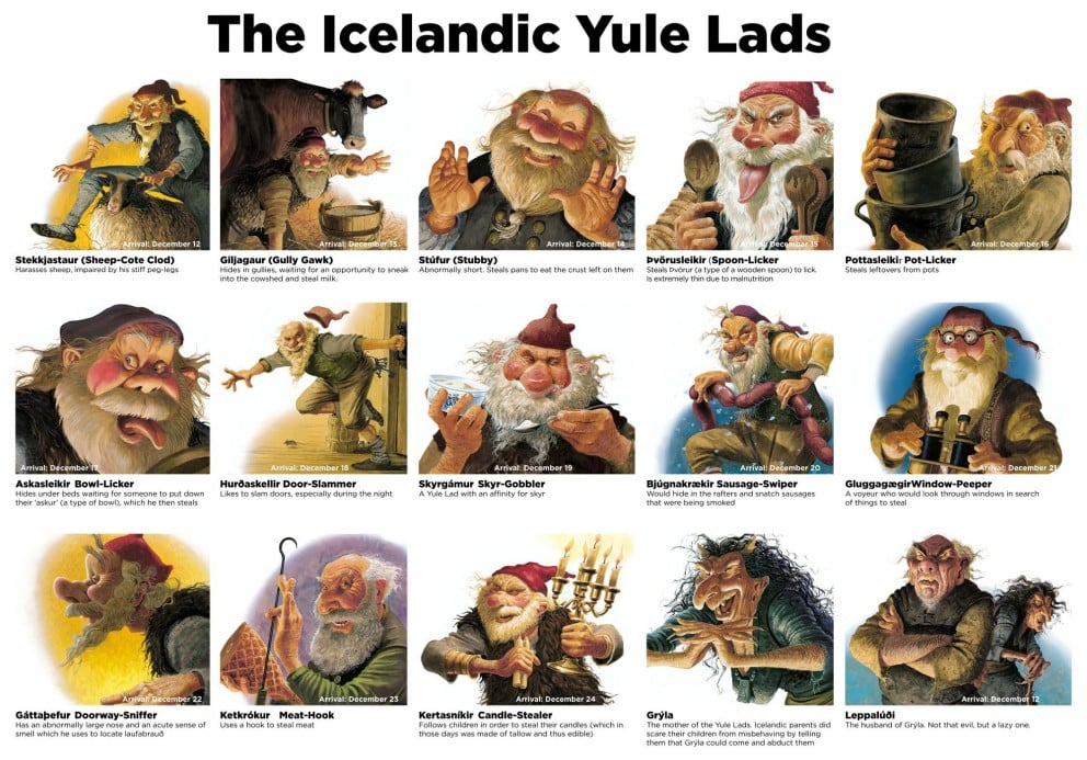 Are you familier with our Yule lads?
